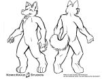 Digitigrade Husky - Free Character template by temperance