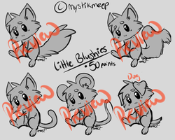 Little Blushies P2U base [Price Lowered] by MystikMeep