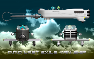 MMD Last Exile Van Ship by Trackdancer