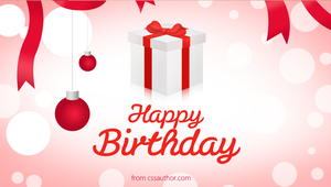 Happy Birthday Greetings PSD - cssauthor.com by cssauthor