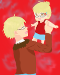 father and daughter hetalia by IShadowstarI