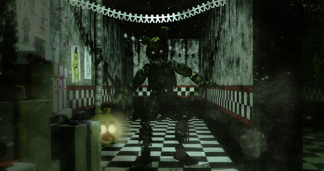 C4D|FNAF 3|Not talk about it by YinyangGio1987
