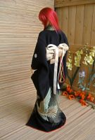 BJD Kimono, Sokuto in Black Formal Furisode by InarisansCrafts