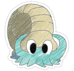 Omanyte Sticker by spot1the2dog3