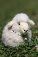 Needle felted Sheep by azu-55