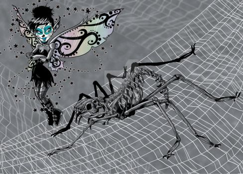 wicked Tink and the spider by TonyTempest