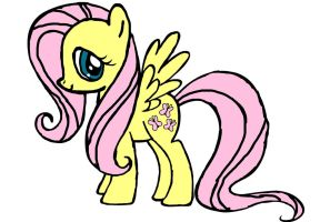 Fluttershy Doodle by Emily2004Morgan