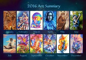 2016 Art Summary by TrollGirl