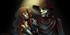 Passion in Red - Christine and the Phantom by juanbauty