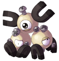 Type Collab: Steel - Shiny Magneton by Krisantyne