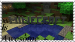 Minecraft Is AWSOME Stamp by Circuscatgirl