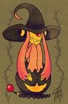 PKMNC - Pumpkin Witch by TamarinFrog
