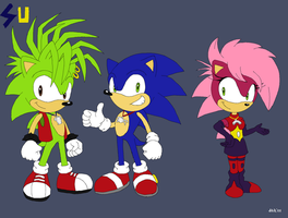 Sonic Underground in Modern version by Domestic-hedgehog