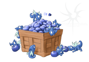 Blueberry Dragon WIP by Aniseth-LightWing