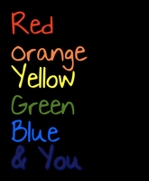 Red,Orange,Yellow,Green,Blue,You by GracelessDesires