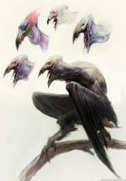 Creature and sketches by Manzanedo