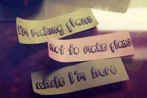 plans by classictantrums