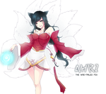League of legends : Ahri by Haru-Tchi