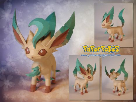 Leafeon Papercraft by Lyrin-83