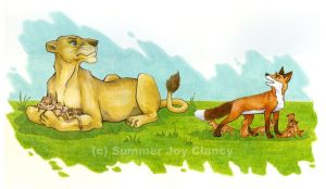 Vixen and Lioness by TerrifyingLint
