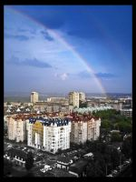 Rainbow over the Belgrade by Bgranny