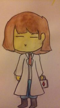 Doctor Frisk (trying out watercoloring ) request 6 by animegamergirl13