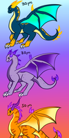Point Adoptable Dragons by Meinkenny