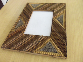 Corrugated cardboard photo frame_6 by mvlrvy