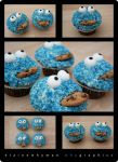 Cookie Monster Cup Cakes by elainewhy
