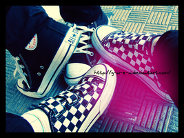 Converse and Vans by G-W-E-N