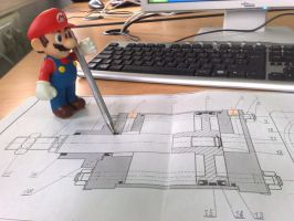 Mario and Technical Draw by Outziderw