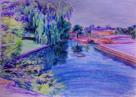 hitchin town pond by pigletface
