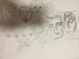 Classic Horror (Pencil) by thisiscray