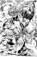 Thor vs Blastaar by gammaknight