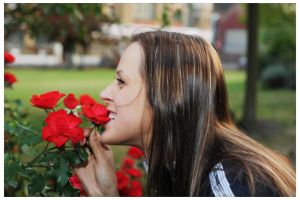 Chewing on roses by stmayhem93