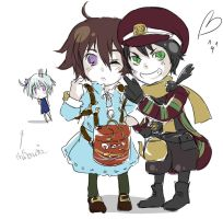 Fragile Seto and Crow by Allisaer