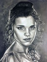 Emma Watson pencil drawing by moisessurielart