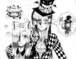 Alice X Evil Mad-Hatter by UmiMizuno