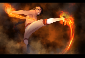 Bending some fire by SilvesterVitale