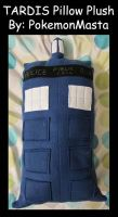 Doctor Who TARDIS Pillow Plush by PokemonMasta
