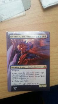 Niv-Mizzet, The Firemind - Full Art Alter by BlacklightOfDawn