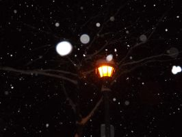 Street Lamp and Snowflakes by DarlingChristie