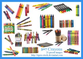 507 Crayons by Tigers-stock