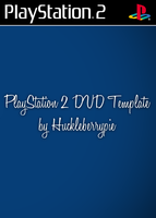 PlayStation 2 DVD Template by huckleberrypie