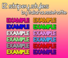12 Stripey Styles FIXED by italianaussiehottie