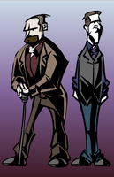 The Great Detective and his Colleague by SkipperWing