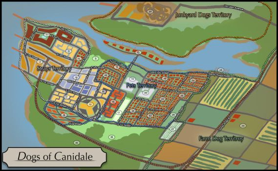 Canidale Town Map by Tazihound