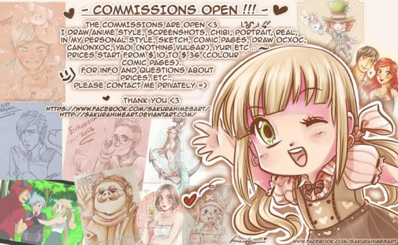 COMMISSIONS OPEN !! by SakurahimeArt