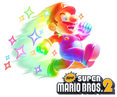 New Super Mario Bros. 2: Invincible Mario by Legend-tony980