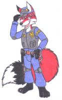 So, i would look like this? Police Fox! XD by DingoPatagonico